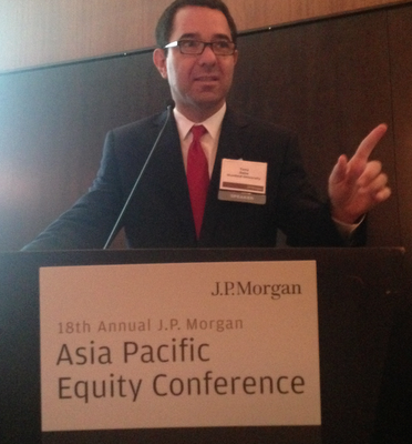 Tony Seba Speaking at J.P.Morgan Asia Pacific Equity Conference,  September 4th, 2014