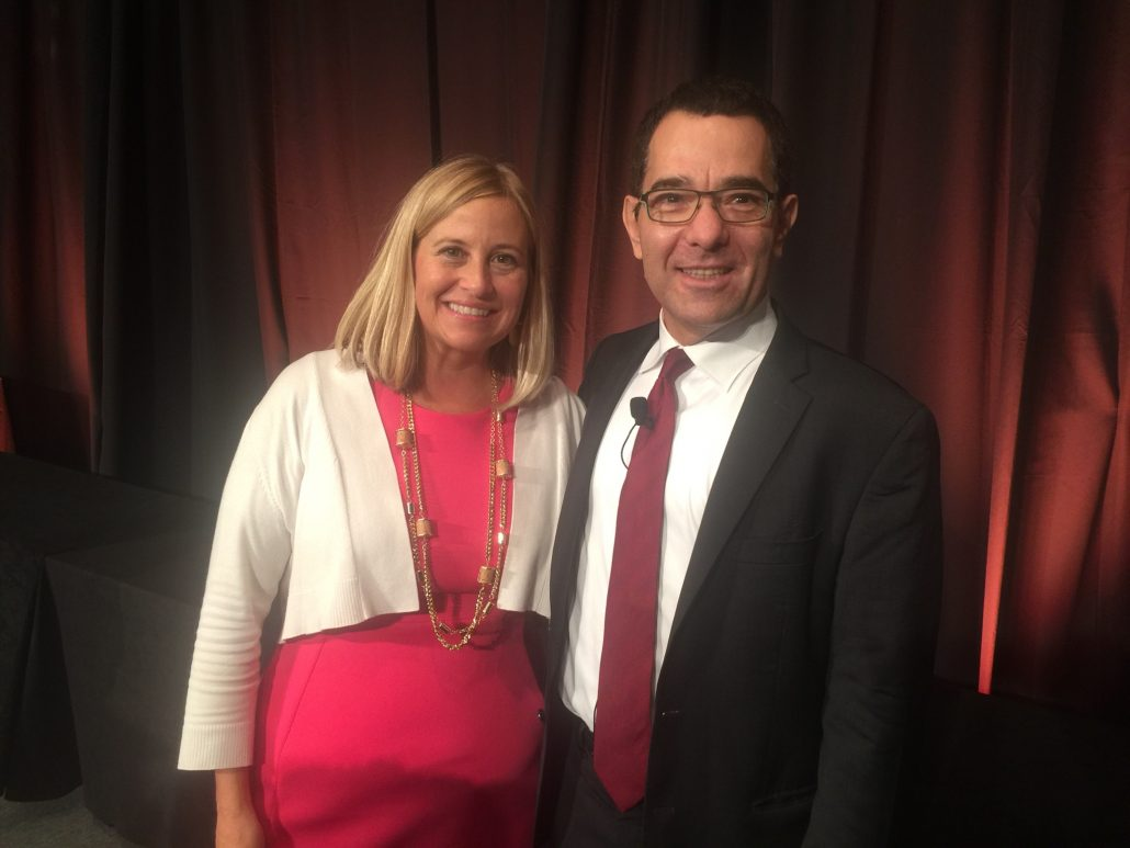 Clipping from Magazines, Blogs, TV interviews and other news where Tony Seba is mentioned, or quotes from his work are used as a reference. Nashville Mayor Megan Barry with guest speaker Tony Seba