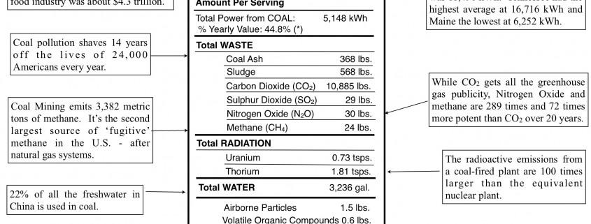 Energy Facts Label: COAL - Copyright © Tony Seba