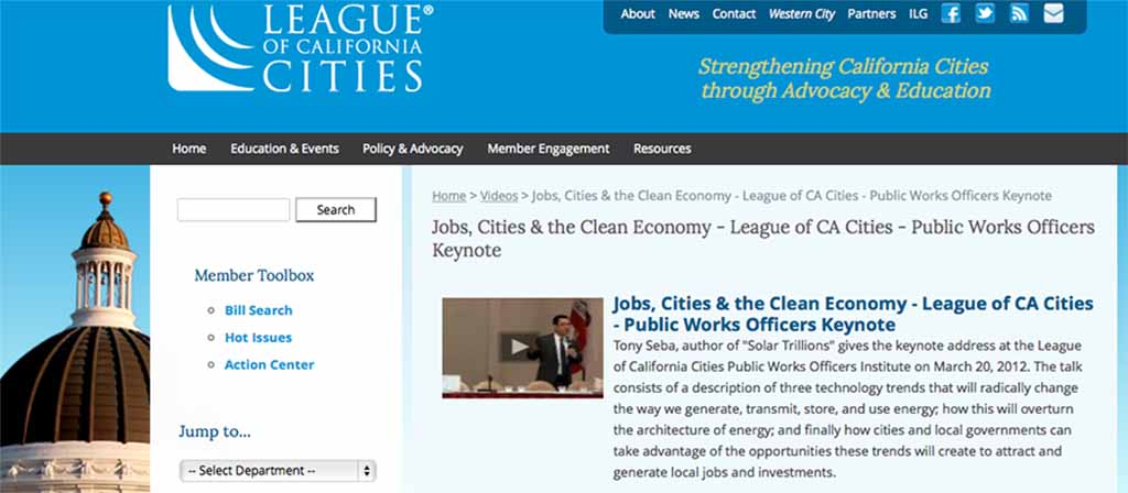 League of California Cities – Public Works Officers