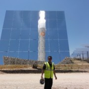 Tony Seba at Gemasolar - the world's first baseload (24/7) solar power plant in the world.