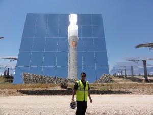 Tony Seba at Gemasolar - the world's first baseload (24/7) solar power plant in the world.