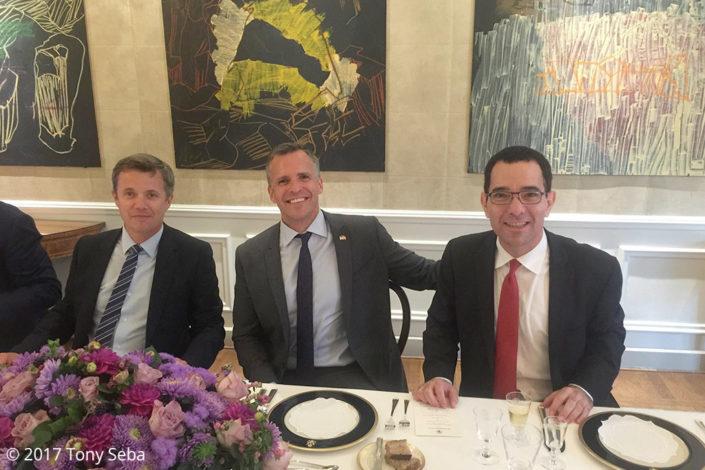 Crown Prince Frederick, US Ambassador Rufus Gifford and top Danish execs, Green Business Summit 2016, Copenhagen (September 13-14, 2016)